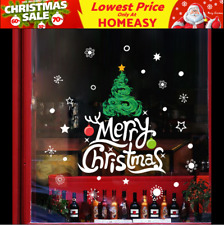 Christmas Tree Wall Decals Vinyl Window Sticker Kids Removable Xmas Decor DIY