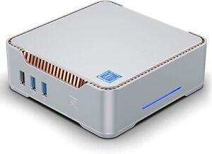Mini PC, 4GB RAM+64GB ROM Intel Celeron N3350 Windows 10 PRO Desktop Computer, D