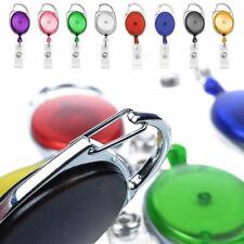 5-50 Pcs Oval Translucent Retractable Badge Reels Keys ID Holder Belt Clip Lot
