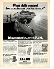 1970 DODGE CHALLENGER ~ ORIGINAL B&M SHIFTER AD