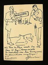 Richard Bloos 1878 - Düsseldorf / Do Kostalied / Handzeichnung signiert / 1932