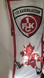 1.FC Kaiserslautern Hissflagge, Hissfahne, Fahne, Flagge, 1,20x3m Neu.