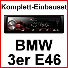 Pioneer MVH-280FD USB MP3 Radio RDS Bluetooth FLAC Einbauset für BMW E46