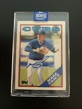 2020 Topps Archives Signature Series Mark Grace RC /17 Chicago Cubs