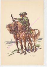 CP MILITARIA J DEMART Costumes Militaires 1er chasseur à cheval lieutenant 1918