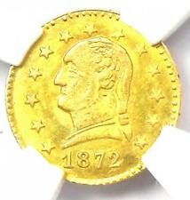 1872 Washington California Gold Quarter 25C Coin BG-818 - NGC MS64 - $2600 Value