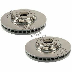 For Porsche Cayenne Pair Set of Front Left & Right Vented Disc Brake Rotors OEM