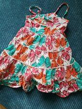 Vestido de verano 3-4 años De Niña estampado de mariposas azul verde de George