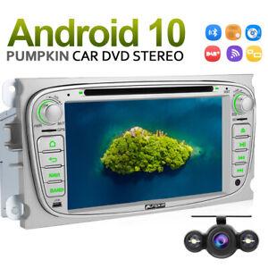 Pumpkin Android 10.0 Autoradio GPS DVD DAB+ FM Für Ford Focus Mondeo MK4+Kamera