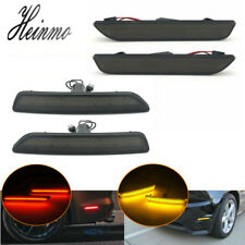 Smoked Lens Front & Rear LED Side Marker Lights For 2010-2013 2014 Ford Mustang