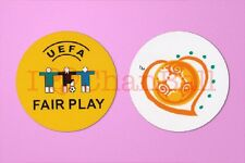 Uefa euro 2004 + fair play football manche plastique soccer patch/badge
