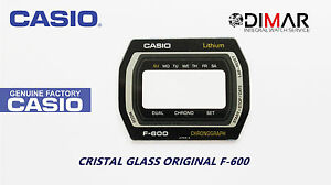 Vintage Glas Casio Kristall F-600 NOS