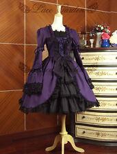 Cosplay Gothic Vintage Lolita Purple Dress