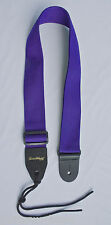 Guitar Strap For Acoustic & Electric Purple Nylon SolidLeather Ends Made In USA
