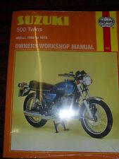 HAYNES MANUAL FOR SUZUKI T 500 1968-75 GT 500 1975 ONWARDS