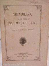 VOCABOLARIO PER LE VITE DI CORNELIO NEPOTE Ernesto Crespi Alighieri 1905 Latino