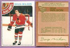 1978-79 OPC O-PEE-CHEE Doug Wilson Rookie Chicago Black Hawks #168