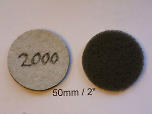 """Non-woven Abrasive Discs Hook and Loop Backed 2"""" / 50mm   2000 Grit"""