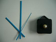 QUARTZ CLOCK MOVEMENT SHORT SPINDLE 130mm BLUE HANDS