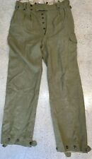 Vtg Australian Military Wool Pants 1951 Green New Vogue Button Fly 34 X 34 Army