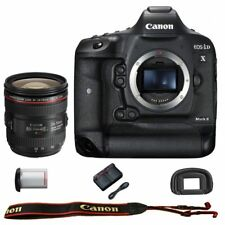 Canon EOS 1DX Mark II DSLR Camera Body with EF 24-70mm f/4L IS USM Lens