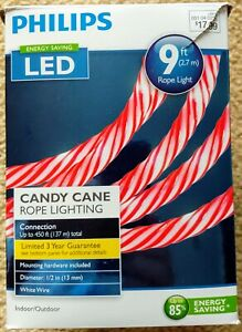 Philips 9ft Candy Cane Rope Lighting Red Indoor/Outdoor
