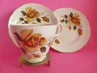 Regency Bone China Trio, Vintage Tea Cup, Saucer & Plate, 1950s Yellow Roses