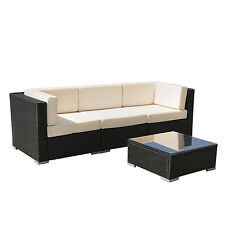 In/Outdoor Wicker Patio Sofa Set Rattan Sectional Furniture Garden Deck Couch