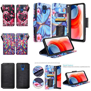 Motorola Moto G Play (2021) Leather Magnetic Flip Kickstand Wallet Case Cover