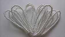 12 Looped Stems Pearl Beads For Wedding Bouquet Buttonholes Bridal Corsage White