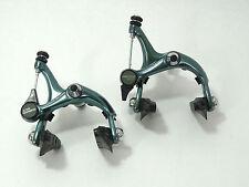 "Shimano 105 Brake Caliper Set model 1050 ""green"" anodized Vintage road Bike NOS"