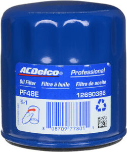 Engine Motor Oil Filter AC DELCO professional GM oem Chevrolet ACDelco Pro PF48E