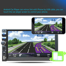 "Android 5.1 7"" Double Bluetooth 2DIN Car Radio Stereo MP5 MP3 DVD Player GPS Nav"