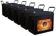 QTY5 SLR155 Solar Wind Energy 12V Each AGM Battery HI Capacity Maint Free 775AH