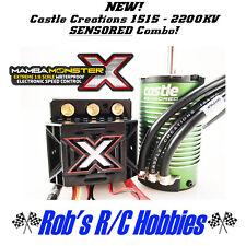 NEW Castle Creations Mamba Monster X Sensored 1515 2200KV 4-Pole Motor & ESC
