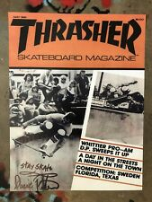 DUANE PETERS PUNK ROCK SKATE THRASHER COVER WHITTIER PRO-AM '81