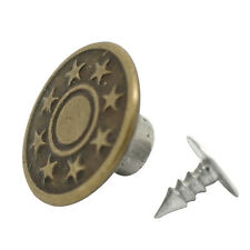 50-in-1 Sets Star Metal Buttons Jean Tack Color Bronze 17x8mm for fashion CX