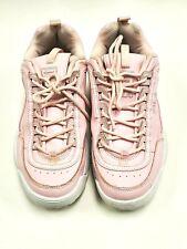 FILA Womens Disruptor II Premium Repeat Chalk Pink Size 9.5