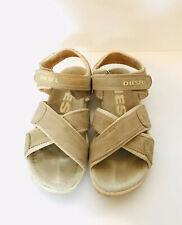 DIESEL Leather Sandals Adjustable Beige Size 39