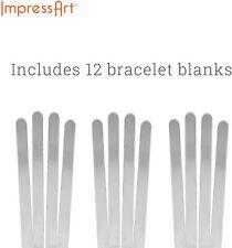 ImpressArt Bracelet Blanks, Aluminum Soft Strike, 12 Cuffs Included, Select Size