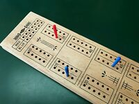 Classic Wooden Cribbage Board 60 Holes Pubs Club Card Game.