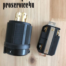 L15-30 Plug - NEMA L15-30P L15-30R  Rated for 30A, 250V  UL Approval Safety