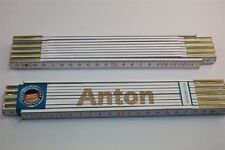Zollstock mit Namen     ANTON   Lasergravur 2 Meter Handwerkerqualität