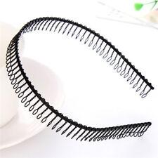 New Practical Black Metal Teeth Comb Hairband Hair Hoop Headband For Woman Sexy|