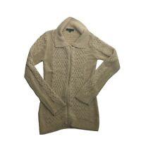BCBG Maxazria Women's Knit Full Zip Sweater Size Medium