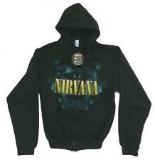 Nirvana Seahorses Black Zip Up Sweatshirt Hoodie S New Official 20th Nevermind