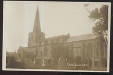 RP Postcard CRICH ENGLAND  Local Area Church w/Tall Bell Tower Steeple 1910's