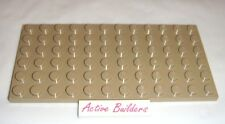 Lego Plate 6 x 12 Dark Tan ** 2 pieces ** 10234