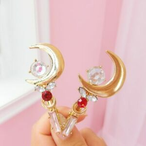 2Pcs Lovely Sailor moon moon Girls Clips Cosplay Hairpin Girls Gifts fashion new