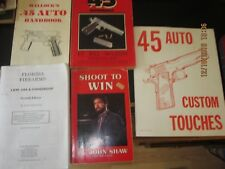 5-.45 Automatic Gun Collection books,Hellecocks,Shoot To Win,Combat Etc.